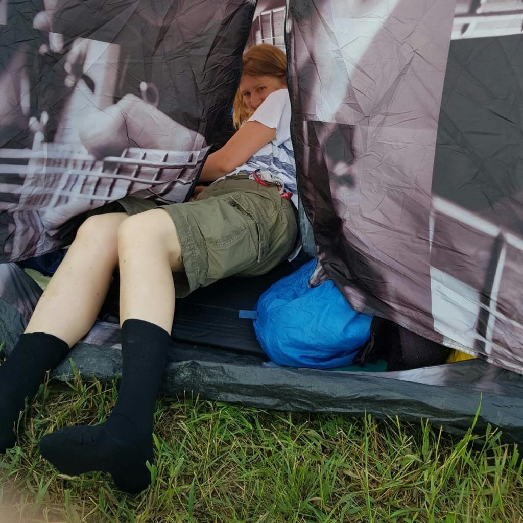 Trotz Angststörung am Festival